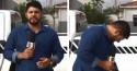 Jornalista da Globo tem ataque de fofura ao ser interrompido por gato em reportagem