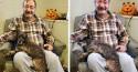 Puro amor: homem vai a abrigo e adota cão idoso que esperava há anos por novo lar
