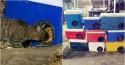 Contra o frio, ativista transforma caixas térmicas velhas em casinhas para gatos de rua