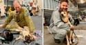 Marinha australiana dá abrigo para mais de uma centena de cães que sobreviveram aos incêndios no país