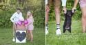 Novo bebê? Não! Casal americano faz ensaio fotográfico para revelar adoção de cãozinho