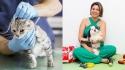 Médica veterinária aponta benefícios do uso da medicina veterinária integrativa na melhora da qualidade de vida em animais de estimação com câncer. (Fotos: esquerda/Freepik | direita/Arquivo pessoal dra. Joyce Magalhães)