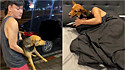 Jovem acorda de ressaca com um cachorro na cama e descobre que o adotou na noite anterior. (Foto: Facebook/Yutthaphum Kaewekhem)