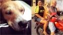 Cachorrinha sorri de alegria ao ser adotada após anos vivendo nas ruas de Manaus. (Foto: Facebook/Arnaldo Rocha Neto)