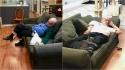 Idoso voluntário de 75 anos visita abrigo todos os dias para cochilar com os gatos. (Facebook/Safe Haven Pet Sanctuary Inc)
