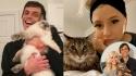 Homem que conheceu namorada em um grupo sobre gatos no Facebook a pede em casamento. (Foto: Divulgação/SWNS)