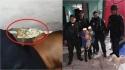 Policiais salvam cachorro que ficou preso entre paredes após sofrer queda e as crianças agradecem. (Foto: Twitter/@ActualidadER)