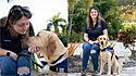 Jovem que perdeu a visão após sofrer um aneurisma passa a ter uma rotina normal graças a ajuda de cão-guia. (Foto: Southeastern Guide Dogs)