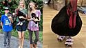 Crianças vão ao supermercado fazer compras e saem de lá com sandálias para o galo da família. (Foto: Instagram/jacktheroosterof)