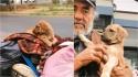 Morador de rua pede ajuda à veterinários para sua cachorrinha que não queria comer. (Foto: TikTok/@chemanimals)