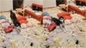 Husky siberiano destrói sala de estar e parece bastante orgulhoso do que fez. (Foto: Douyin/yingsu066)