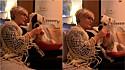 Cachorro fica atento às instruções da dona de como tricotar e vídeo viraliza. (Foto: Reprodução/TikTok)
