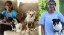 Menina de 14 anos passa a cuidar de cães para arrecadar dinheiro e doar para abrigo que cuida de cachorros idosos. (Foto: Arquivo Pessoal/Jayashree Subrahmonia)