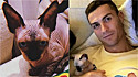 O gatinho passou por uma cirurgia na Itália. Depois de uns dias na UTI, para seu conforto e recuperação, o felino foi encaminhado para a família da sua namorada na Espanha.