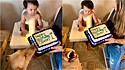 Cão come bolo de festa de aniversário de 1 ano e não se mostra arrependido.