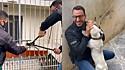 Delegado Matheus Laiola resgata cachorra acorrentada sob as intempéries do tempo.