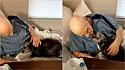 Idoso tem reencontro emocionante com o seu cachorro em clínica de reabilitação.