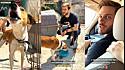 Felipe Becari e equipe comemoram resgate de cachorro que vivia preso em laje.
