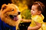 Ensaio de 'A Bela e a Fera' com bebê e cachorro fica espetacular e viraliza na internet – VEJA AS FOTOS