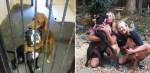 Cães escapam da eutanásia após foto dos dois se abraçando conquistar adotantes