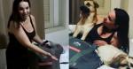 Mãezinha do famoso cão Chico ganha cama e travesseiros novos de empresa de colchões
