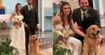 Cão é levado de surpresa a casamento e emociona noiva em Teresina