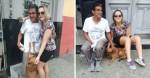Morador de rua reencontra família depois de 30 anos e leva sua cachorrinha junto para casa