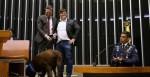 Deputado leva cachorro à Câmara em comemoração ao Dia Mundial dos Animais