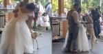 Em vídeo fofo, cão labrador 'invade' pista e participa da dança com os noivos em casamento