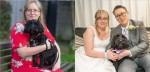 Cadela salva vida de dona surda após alertá-la sobre incêndio e se torna dama de honra em seu casamento