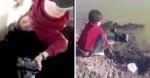 Menino entra de cabeça pra baixo em poço de petróleo para resgatar cachorro (veja vídeo)