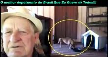 """Seu Édio pede um Brasil melhor para os cachorrinhos e depoimento viraliza na internet – """"O melhor depoimento do Brasil Que Eu Quero de Todos"""""""