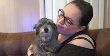 Mulher adota sem saber o mesmo cachorro que teve quando era criança