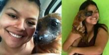 Cachorrinho queimado vivo por antiga 'dona' chora ao ser adotado no AC