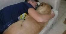 Garoto tenta acalmar cachorrinha assustada com estrondo de fogos, mas ela falece após ataque cardíaco