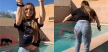 Enquanto dona gravava vídeo, cachorro cai e afunda na piscina (veja vídeo)