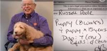Médico receita 'adotar um filhote de cachorro' para idoso que luta contra o câncer (veja o vídeo)
