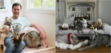 Para suprir a falta do seu cão falecido, homem começa a adotar animais de várias espécies; assista