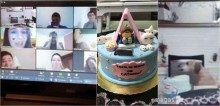 Cachorrinha aproveita que dona saiu para 'roubar' bolo de aniversário dela, mas todo mundo viu