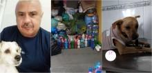 Voluntário arrecada milhares de tampinhas plásticas para vender e ajudar animais de rua em Curitiba