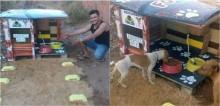 Homem cria projeto que viabiliza alimento e água durante 24 horas para animais de rua; confira