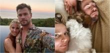 Esposa do ator Chris Hemsworth, o Thor, compartilha foto do astro tirando uma soneca com o cão do casal