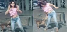 Jovem viraliza após ser mordida por cachorro enquanto gravava vídeo para o TikTok