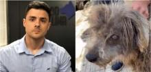 Delegado Bruno Lima fica chocado ao ver estado de cachorro que salvou em SP