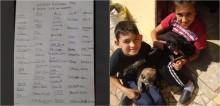 Garoto cria abaixo-assinado com 'assinaturas' de Neymar, Jesus e Maisa para convencer mãe a adotar cachorro