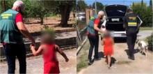 Menina é encontrada chorando na rua abraçada a cachorro após ser abandonada; vídeo