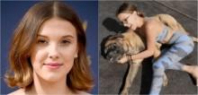 Millie Bobby Brown perde seu cão mastiff inglês de 9 anos e atriz se despede com texto emocionante no Instagram
