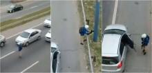 Motociclista herói se arrisca para salvar gato em rodovia movimentada; confira