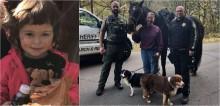 Cachorro ajuda a encontrar menina de 2 anos perdida em área de mata afastada