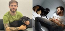 Ativista Felipe Becari registra reencontro emocionante de filhotes com mãe canina encontrada sob péssimas condições